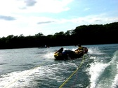 Stock Video Footage of Summer triple teen tubing 8