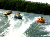 Stock Video Footage of Summer triple teen tubing 6