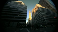 NYC Timelapse - manhatten canyon 13 Chrysler building - stock footage
