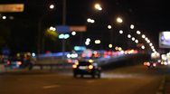 Stock Video Footage of The night road in the city (bokeh video)