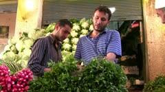 Vegetables seller Stock Footage