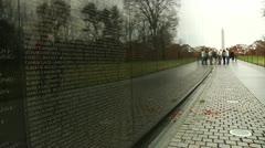 Vietnam Veterans Memorial (LP-Washington-107) Stock Footage