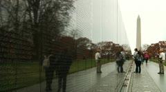 Vietnam Veterans Memorial (LP-Washington-108) Stock Footage