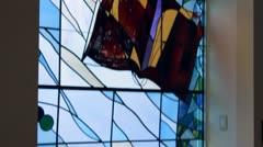 Church Stain Glass Tilt - stock footage