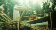 Fairground Amusement Park Jet Plane Flight Ride - Vintage Super8 Film Stock Footage