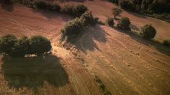 Aerial views of fields Stock Footage