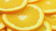 Orange Slices Rotating Stock Footage