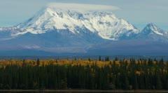 Mount Drum Across Willow Lake - stock footage
