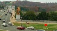 Arlington Memorial Bridge (LP-Washington-166) Stock Footage