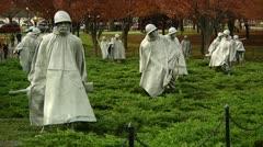 Korean War Memorial (LP-Washington-178) Stock Footage