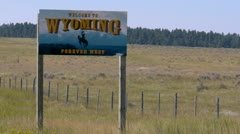 Welcome To Wyoming Sign Stock Footage