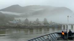 Wrangell Alaska Ferry Docking Stock Footage