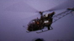Helicopter Take Off Rotor Blades 02 - Vintage Super8 Film - stock footage