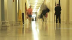 House of Representatives Hallway Stock Footage