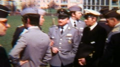 Germany Army Pilots Meeting Aircraft Helicopter - Vintage Super8 Film Stock Footage