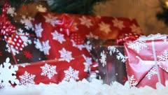 Christmas Presants sitting under the Christmas Tree 2 Stock Footage