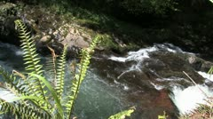 Waterfall from above Stock Footage