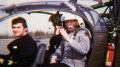 Helicopter Landing Rotor Blades Pilot 04 - Vintage Super8 Film Stock Footage
