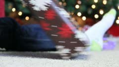 Christmas Presants sitting under the Christmas Tree 5 Stock Footage