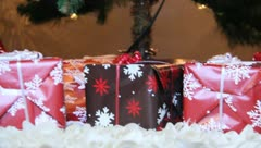 Christmas Presants under the tree 2 Stock Footage