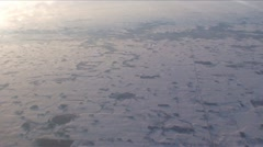 Stock Video Footage of SouthWest Aerial2-21-Winter scene-High alt over country side 2 WIDE