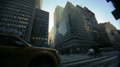 NYC Timelapse - manhatten canyon 16 - stock footage