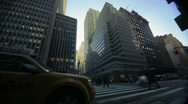 Stock Video Footage of NYC Timelapse - manhatten canyon 16
