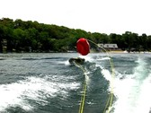 Stock Video Footage of Tubing from motor boat 3