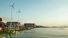 Thai river bay Stock Footage