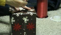 Wrapping Christmas Presants 7 Stock Footage