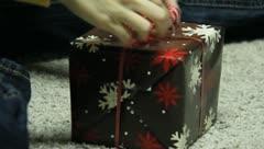 Wrapping Christmas Presants 11 Stock Footage