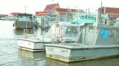 Customs boats Stock Footage