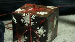 Wrapping Christmas Presants 10 Stock Footage