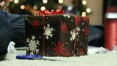 Wrapping Christmas Presants 13 Stock Footage