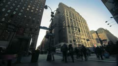 NYC Timelapse - manhatten canyon 18 Stock Footage