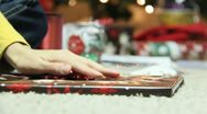 Stock Video Footage of Wrapping Christmas Presants 22