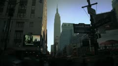 NYC Timelapse - manhatten canyon 20 Empire State Building Stock Footage