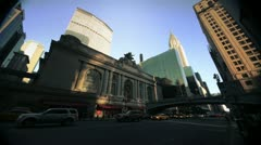 NYC Timelapse - manhatten canyon 10 grand central station - stock footage