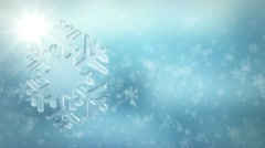 Winter snowfall background Stock Footage