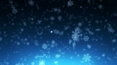 Night christmas snowfall - loopable background Stock Footage