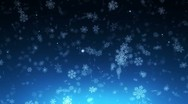 Stock Video Footage of night christmas snowfall - loopable background