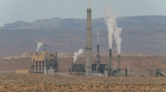 Industrial plant in the desert Stock Footage