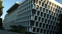 Uniquely Architectural Building. - stock footage