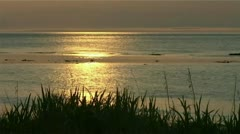 Evening by the sea Stock Footage