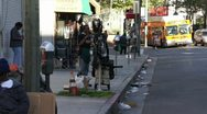 Stock Video Footage of Skid Row in Los Angeles HD