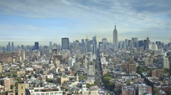 Midtown skyline with the Empire State Building, New York City, USA Stock Footage