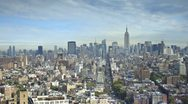 Stock Video Footage of Midtown skyline with the Empire State Building, New York City, USA