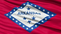 Waving Flag Of The US State Of Arkansas - stock footage