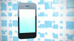 Iphone on animated background Stock Footage
