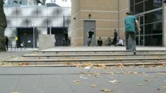 Skateboarders in London Stock Footage